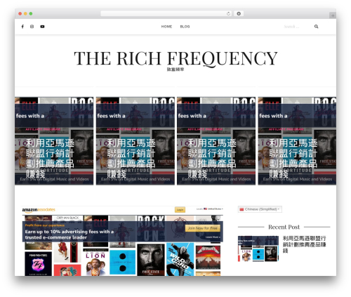 Cali theme WordPress - therichfrequency.com