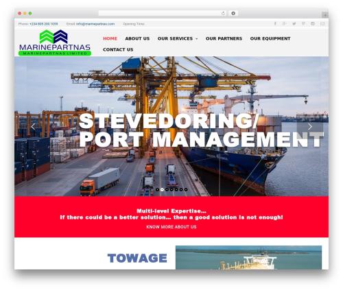 Expeditor WordPress theme - marinepartnas.com