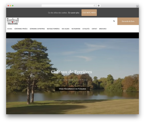 Hotel LUX WordPress hotel theme - chateaudeferrieres.com