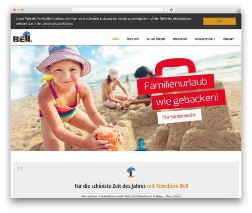 Solitudo WordPress theme - reisebuero-bell.de