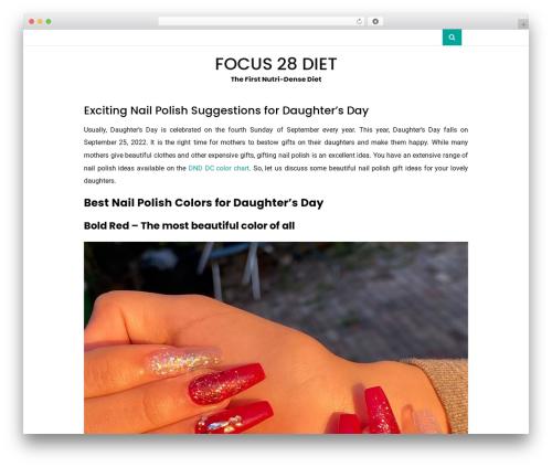 Vihaan Blog Lite template WordPress - focus28diet.com