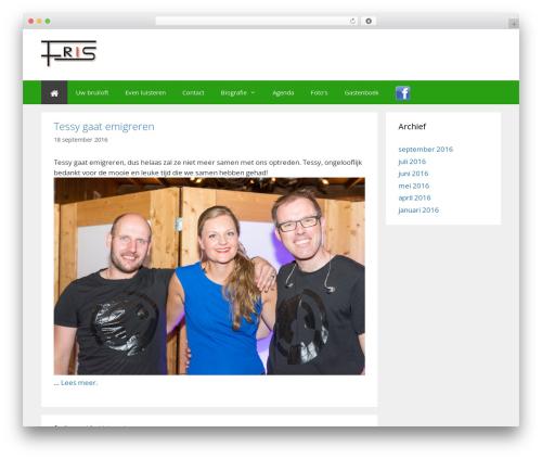 WordPress theme GeneratePress - feestband.nu