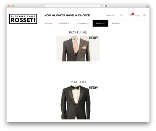 WordPress theme Kute Boutique - elegantshoprosseti.com