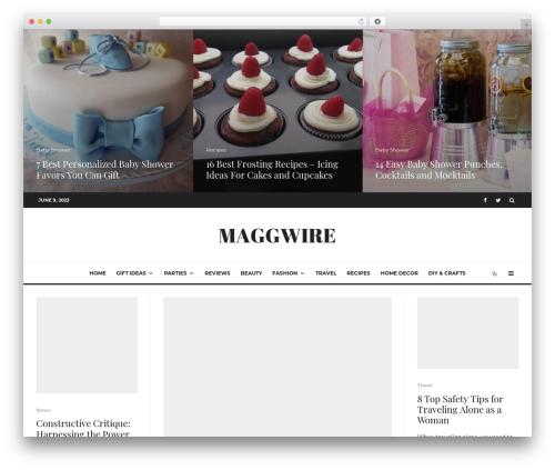 WordPress theme Zeen - maggwire.com