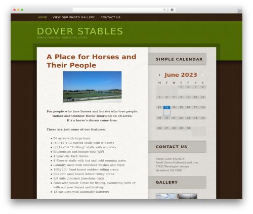 Best WordPress template Genesis - doverstables.com