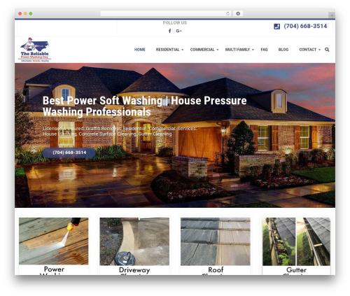 Best WordPress theme WP Maxclean - reliablepowerwashing.com