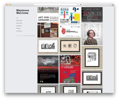 Cell free WordPress theme - marianna-maslova.com