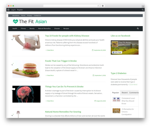Cookbook theme WordPress - thefitasian.com
