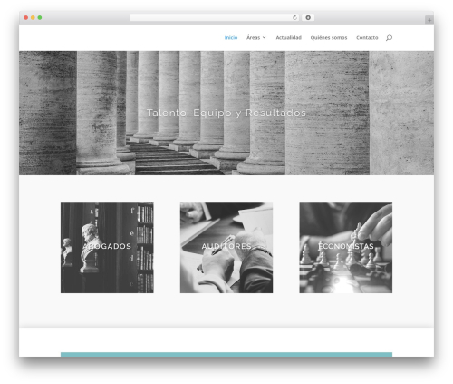 Divi WordPress page template - paezyserrano.com