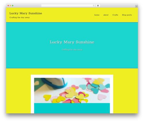 Flex-Lite WordPress theme - luckymarysunshine.com