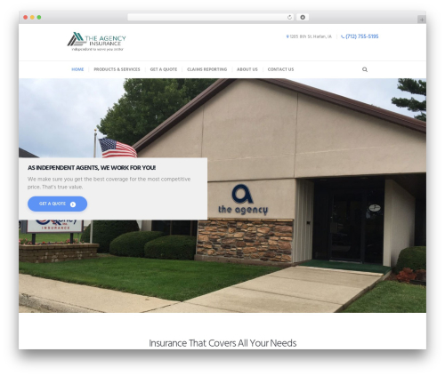 Insurance-Ancora WordPress page template - theagencyinsurance.com
