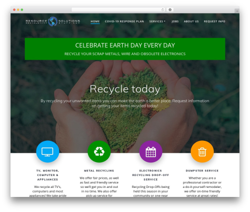 Mesmerize free website theme - recyclethatstuff.com