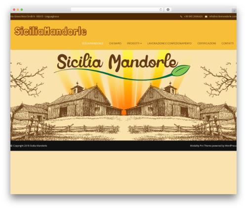 Modality Pro template WordPress - siciliamandorle.com