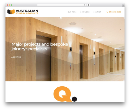 Movedo WordPress theme - australianjoinery.com