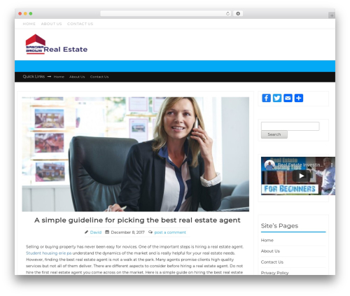 New Shop free WP theme - sandrabrownrealestate.com