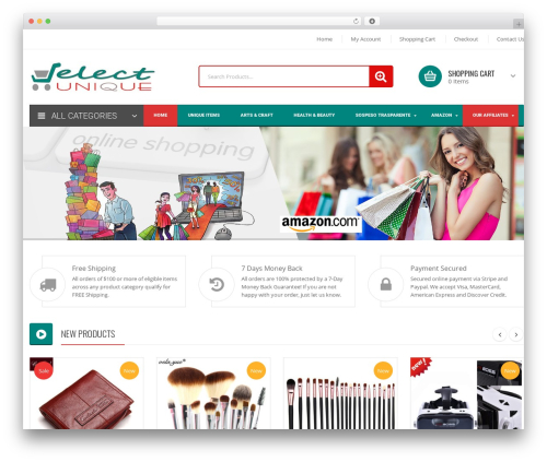 Orienko WordPress shop theme - selectunique.com