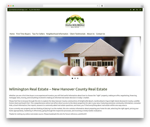 Smartr real estate WordPress theme - dianaholdridge.com
