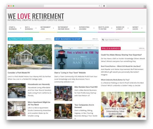Theme WordPress Magazine Hoot Premium - weloveretirement.com