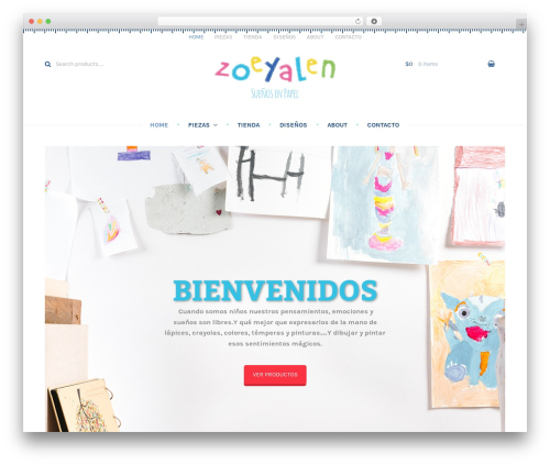 Theme WordPress Stationery - zoeyalen.com