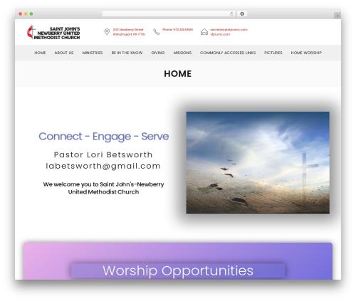 Vision Church WordPress theme design - stjnumc.com