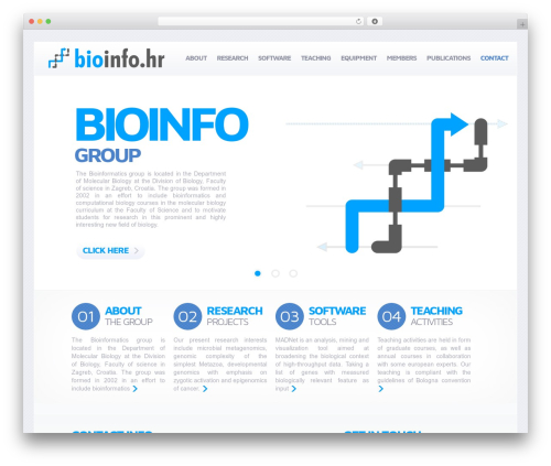 WordPress template WordPress Theme Number - bioinfo.hr