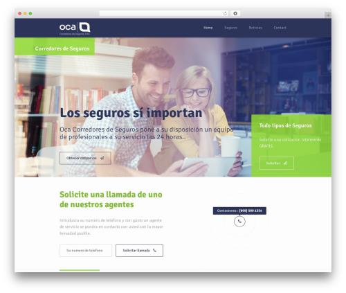 WP template Insurance WordPress Theme - ocaseguros.com