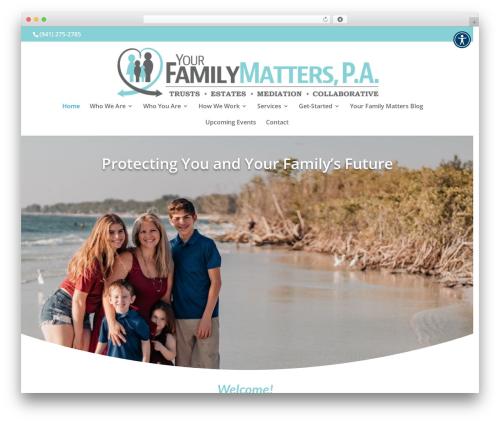 Best WordPress theme Divi - yourfamilymatterslaw.com