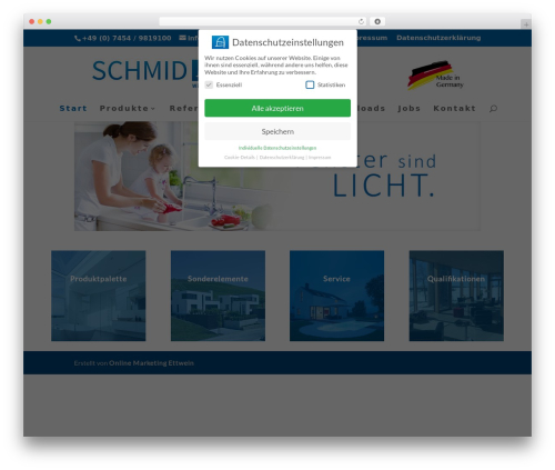 Divi WordPress theme - schmidfenster.de
