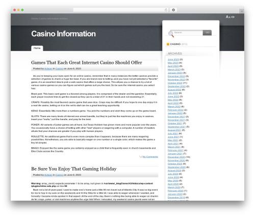 Fusion WordPress theme - dieselcasino.com