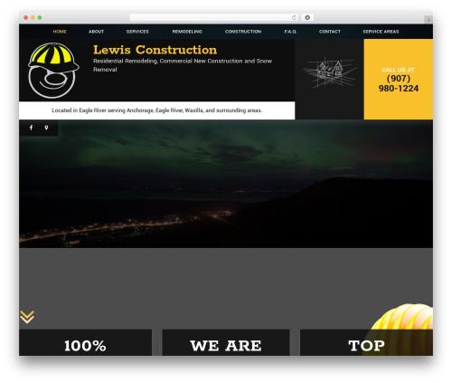 gc7 premium WordPress theme - lewisconstructionak.com