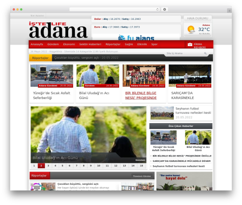 Haber WordPress theme - istelifeadana.com