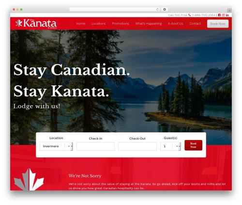 HiiWP best hotel WordPress theme - kanatainns.com