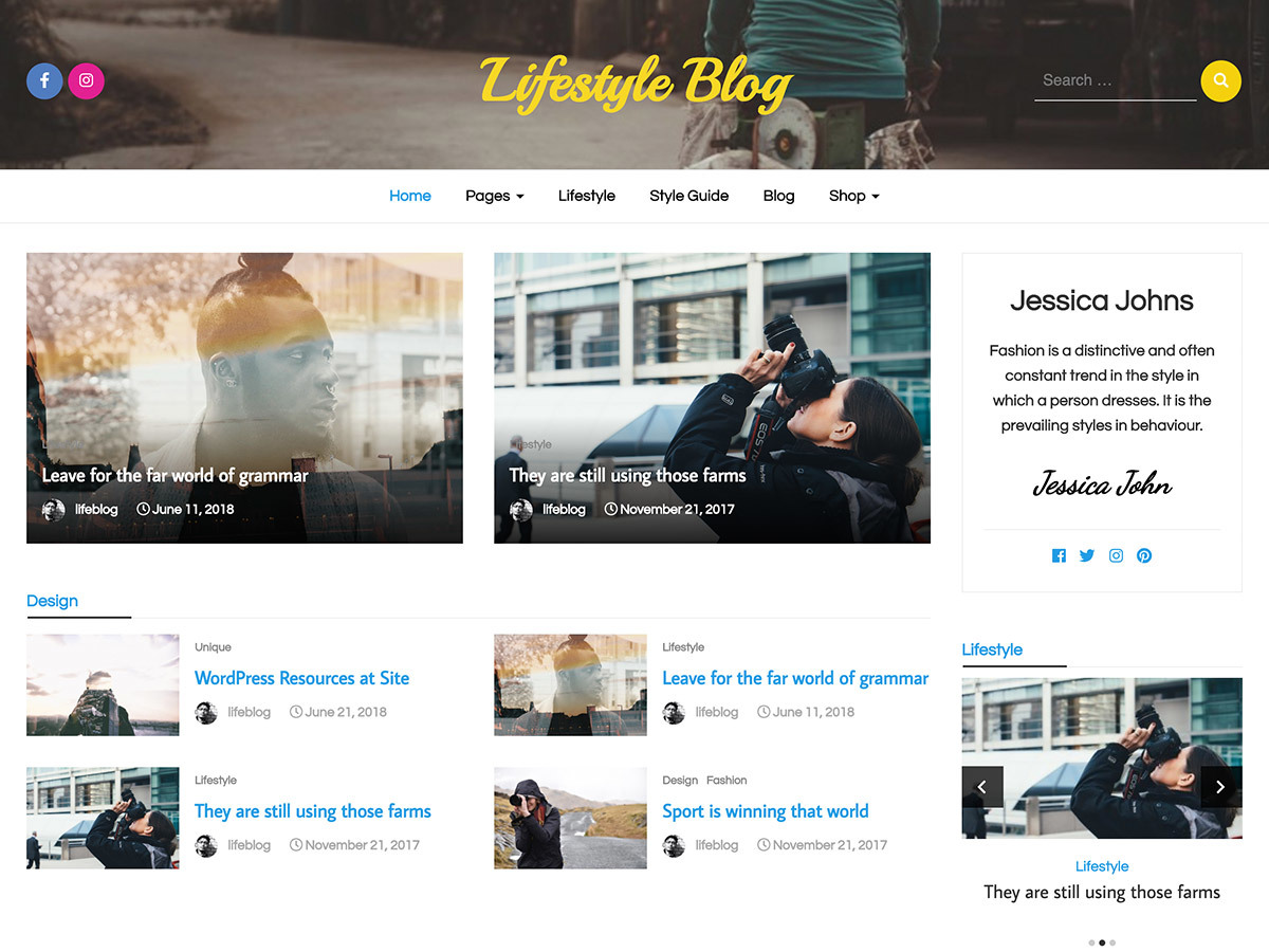 Lifestyle Blog WordPress wedding theme