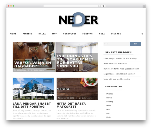 Neder WordPress theme design - gulapriserna.se