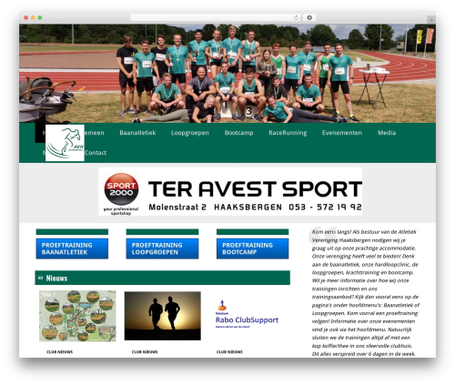Theme WordPress Redesign Sportlinkclubsites - av-haaksbergen.nl