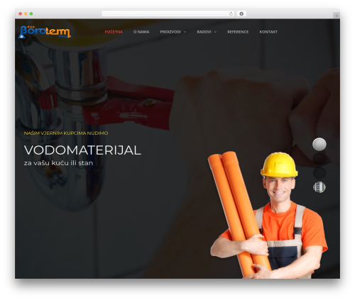 WordPress template TheBuilt - boroterm.com