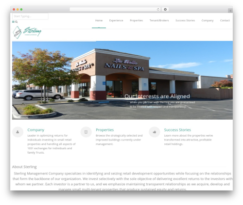 WordPress theme Astrum - sterlingcommercialproperties.com