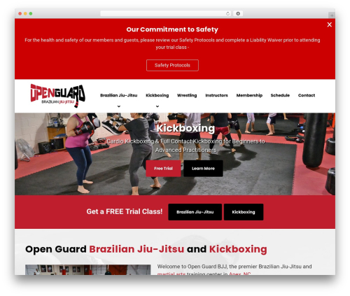WordPress theme GrowthPress PT - openguardbjj.com