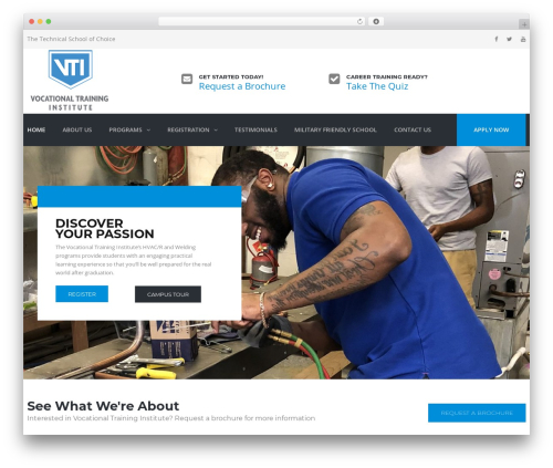 WordPress theme TheBuilt - myvocationaltrainingaz.com