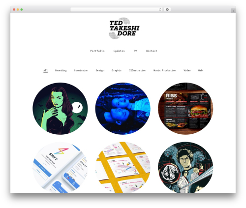 WordPress website template tamashi - tedtakeshidore.com