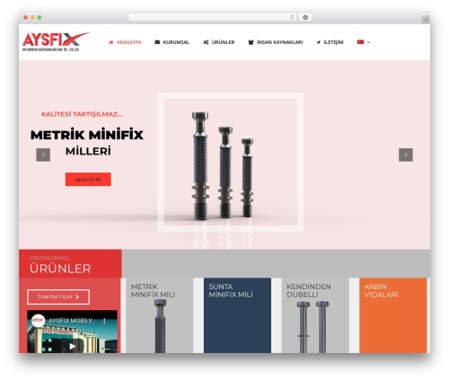 WordPress website template TheBuilt - aysminifix.com