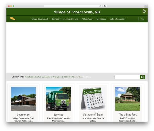 City Government WordPress theme - tobaccovillenc.org