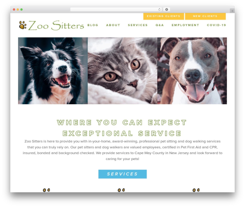 Doodle Dog Custom Theme theme WordPress - zoositters.com