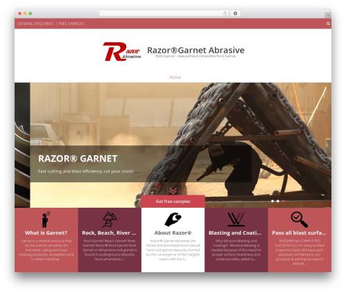 Eightmedi Lite free WP theme - razorabrasives.com