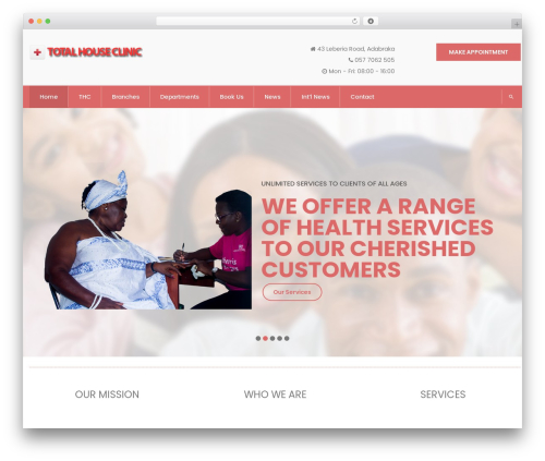 InMedical WordPress theme - totalhouseclinic.com