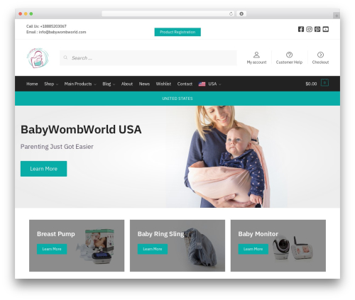 Shoptimizer best WordPress template - babywombworld.com