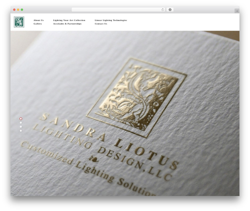 SLLD WordPress template - sandraliotuslightingdesign.com