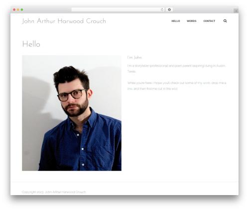 Stratum top WordPress theme - johnahcrouch.com