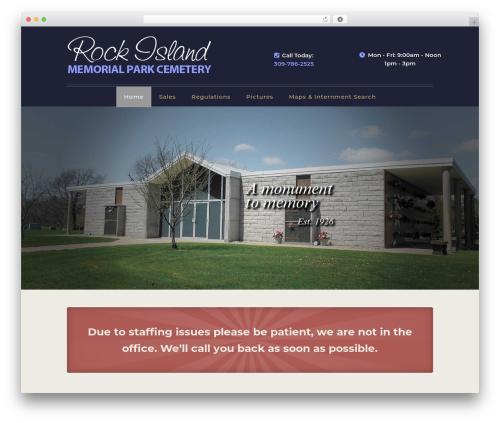 WordPress theme Divi - rimemorialpark.com