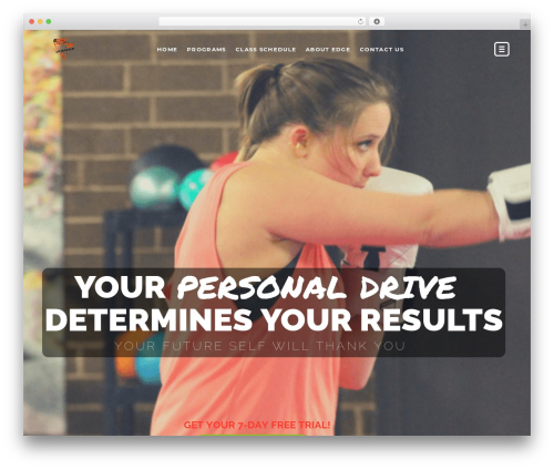 WordPress theme TopFit - edgefitnessllc.com